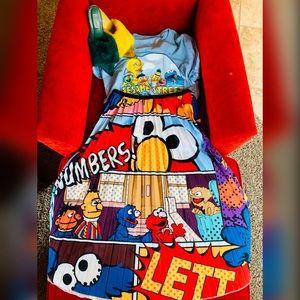 Pleated Fun Print Sesame Street Skirt